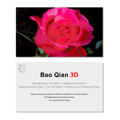 Small Size Custom Design 3D Lenticular Card For Advertisement