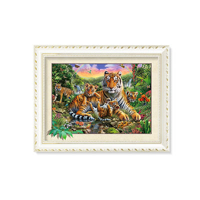 Amazing 5D 30*40CM Lenticular Picture With PS Frame / 3D Animal Images